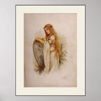 "Medieval ""Elaine"" Print"