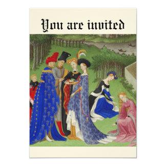 "Medieval event 5"" x 7"" invitation card"