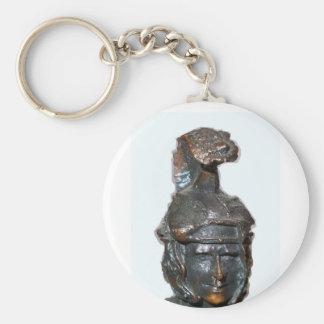 Medieval face of Rome legionary . Keychain