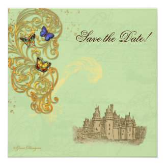 Medieval Fairy Tale Castle 13 Cm X 13 Cm Square Invitation Card