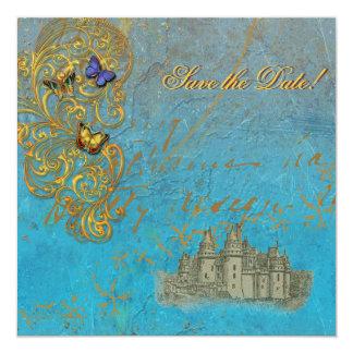 Medieval Fairy Tale Castle Card