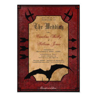 Medieval Fantasy Dragon Wedding Invitation