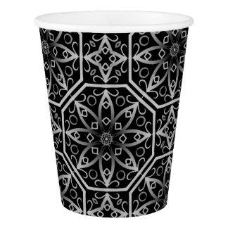 Medieval filigree kaleidoscope paper cup