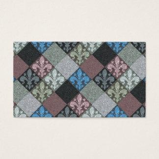 Medieval Fleur de Lys Stone Texture Pattern Business Card