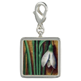 Medieval Flora Square lily of the valley charm