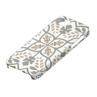 Medieval floral design: Retro flowers & leaves iPhone 5 Cases