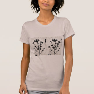 Medieval Flower Art Drawing T-Shirt