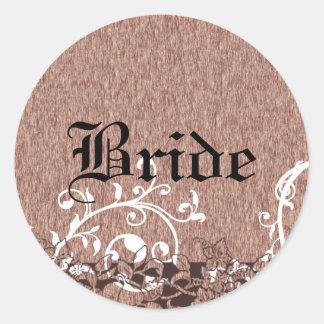 Medieval Fruit Wedding Round Sticker