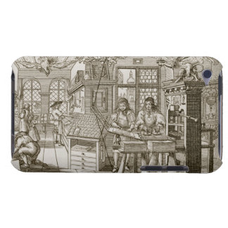 Medieval German printing press (engraving) Barely There iPod Covers
