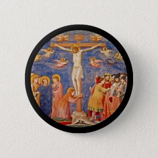 Medieval Good Friday Scene 6 Cm Round Badge