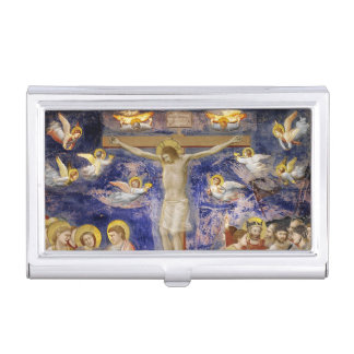 Medieval Good Friday Scene Business Card Holders