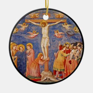 Medieval Good Friday Scene Ceramic Ornament