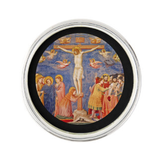 Medieval Good Friday Scene Lapel Pin