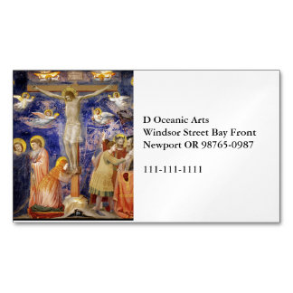 Medieval Good Friday Scene Magnetic Business Cards