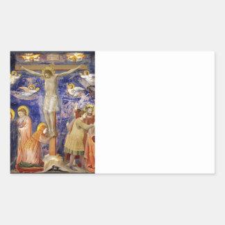 Medieval Good Friday Scene Rectangular Sticker