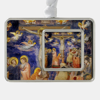 Medieval Good Friday Scene Silver Plated Framed Ornament