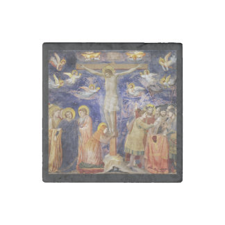 Medieval Good Friday Scene Stone Magnet