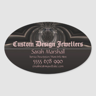 Medieval Goth Fantasy Jewellers Promotional Sticke Oval Sticker