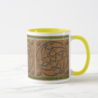 Medieval Gothic Spiral Triple Panel Mug