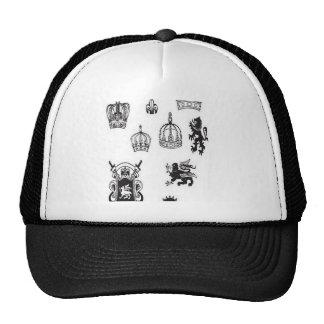 Medieval graphics design trucker hat