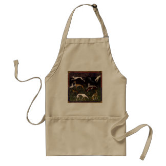 Medieval Greyhound Dogs Fine Art Standard Apron