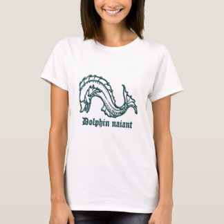 Medieval Heraldry Dolphin naiant T-Shirt