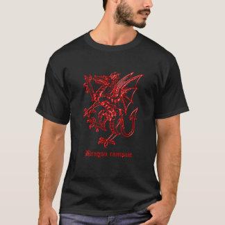 Medieval heraldry Dragon rampant black T-Shirt