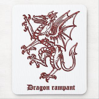 Medieval Heraldry Dragon rampant Mouse Pad