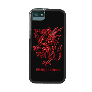 Medieval heraldry red Dragon Rampant antique image iPhone 5/5S Cover