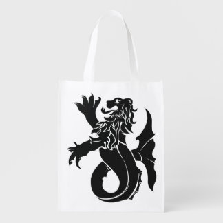 Medieval heraldry Sea lion Reusable Bag