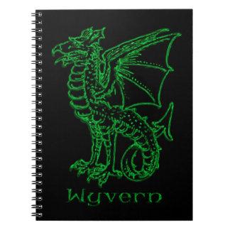 Medieval Heraldry Wyvern Spiral Notebook