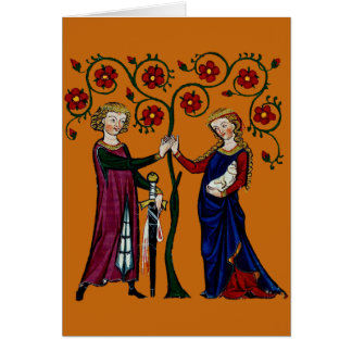 Medieval Holding Hands Card