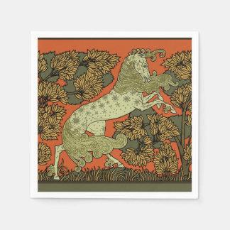 Medieval Horse Art Paper Napkins