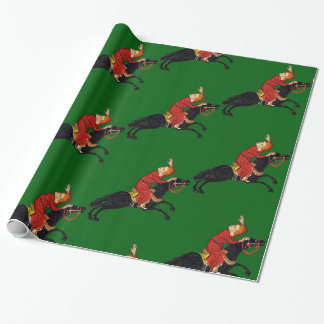 Medieval Horseman Wrapping Paper