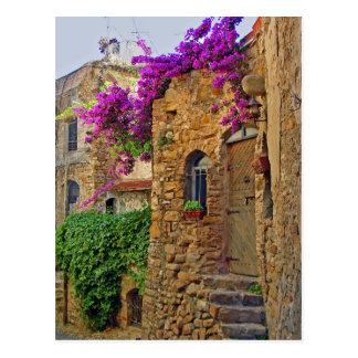 Medieval House in Charming Italy Postcard