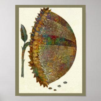 Medieval Italian Sunflower Poster