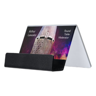 Medieval Knight Funny Customizable Desk Business Card Holder