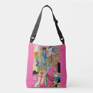 medieval knight on horseback crossbody bag