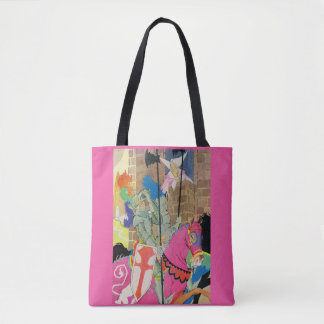 medieval knight on horseback tote bag