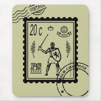 Medieval Knight Postal Stamp Mousepad