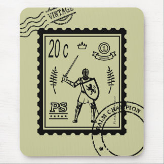 Medieval Knight Postal Stamp Mousepad