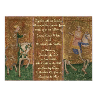 Medieval Knight Renaissance Fantasy Wedding 14 Cm X 19 Cm Invitation Card