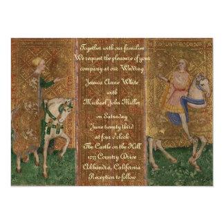 """Medieval Knight Renaissance Fantasy Wedding 5.5"""" X 7.5"""" Invitation Card"""
