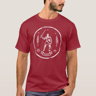 Medieval Knight Round Stamp T-Shirt