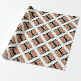 Medieval Letter I Monogram Wrapping Paper