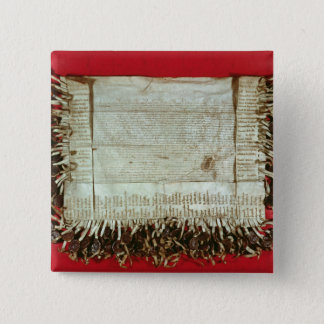 Medieval letter of protest from the Bohemian 15 Cm Square Badge