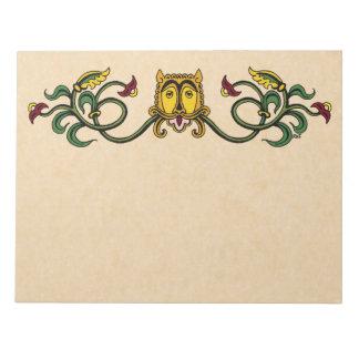 Medieval Lion Design Notepad