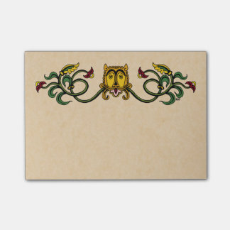 Medieval Lion Design Post-it Notes