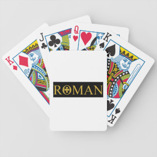 Medieval look bicycle playing cards