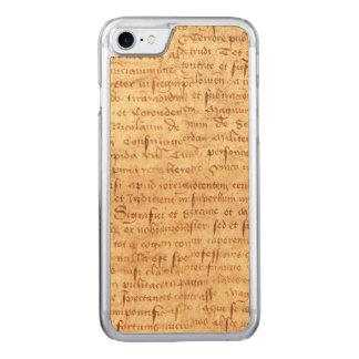 Medieval manuscript carved iPhone 8/7 case